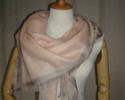 丝绒混纺色织边框超大尺寸方巾